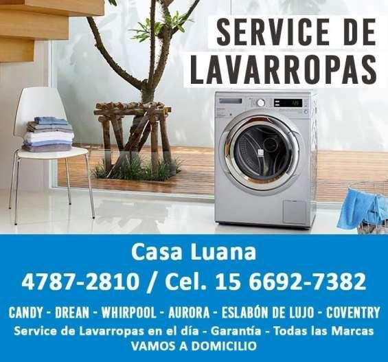 Service de lavarropas en el dia -drean-whirlpool-candy- 4787.2810 / 1566927382