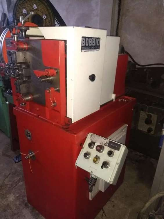 Maquina para la fabricacion de resortes o muelles bobbio bx 200