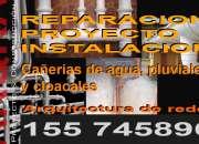 Reparación e instalación de desagües  pluviales , cloacales,agua.