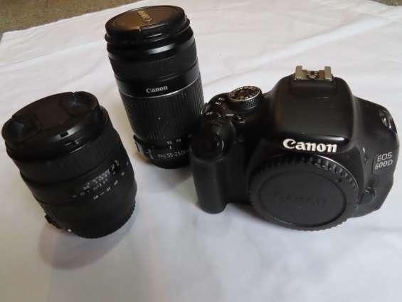 Canon 600d / t3i reflex digital - sólo body o con 2 lentes
