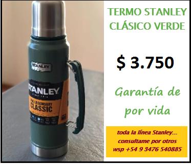 Termo stanley 1 lt clásico verde - 3 x 1.500