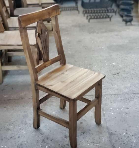 Sillas tablero de madera