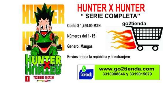 "Venta de mangas hunter x hunter ""serie completa"""