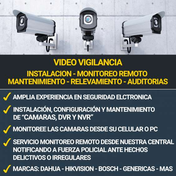 Instalación - monitoreo - ventas de camaras de seguridad