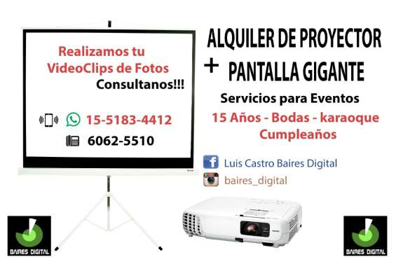 Alquiler de pantalla y proyector en avellaneda 6062-5510