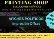 Impresion offset afiches y folletos politicos cam…