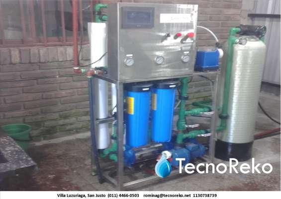 Osmosis inversa mas sistema ablandador 17.000 lts/dia