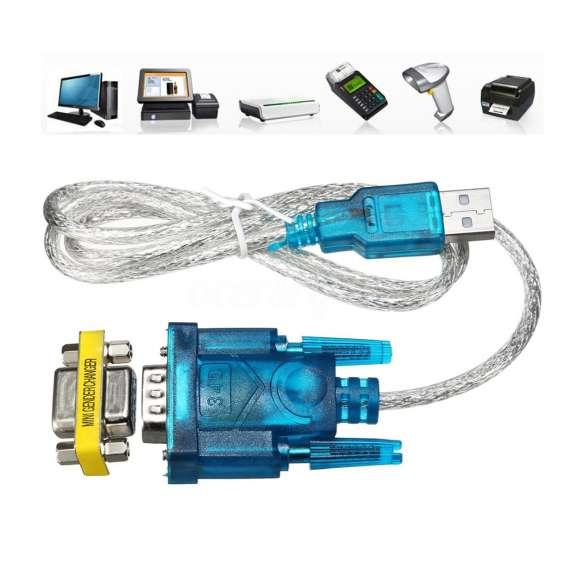 Cable conversor adapter puerto usb de pc a db9 rs-232 serie apto impresoras fiscales hasar