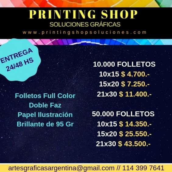 Impresión offset revistas full color - entrega inmediata!!