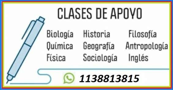 Clases y cursos de apoyo