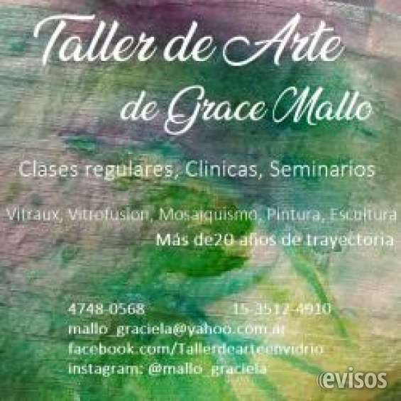 Taller de arte. clases y seminarios. vitraux, vitrofusion, mosaiquismo