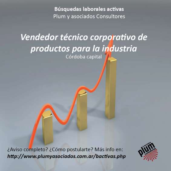 Vendedor técnico corporativo de productos para la industria. córdoba capital