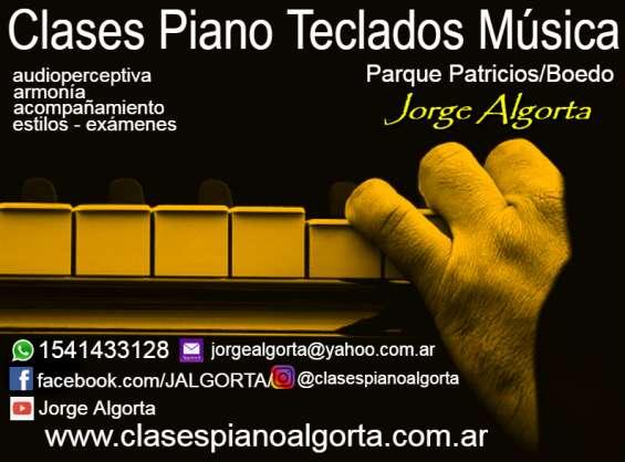 Piano, teclados, órgano electrónico, clases