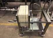 Nro. de stock: 5360   filtro prensa acero inoxidable