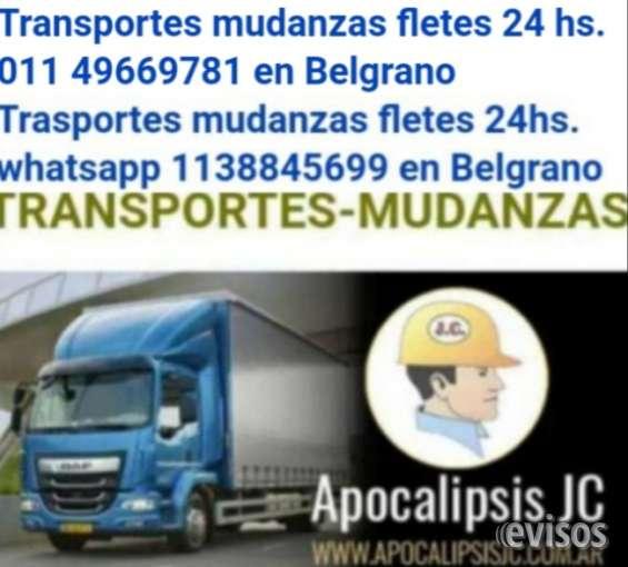 Transportes mudanzas fletes 24 hs. 011 49669781