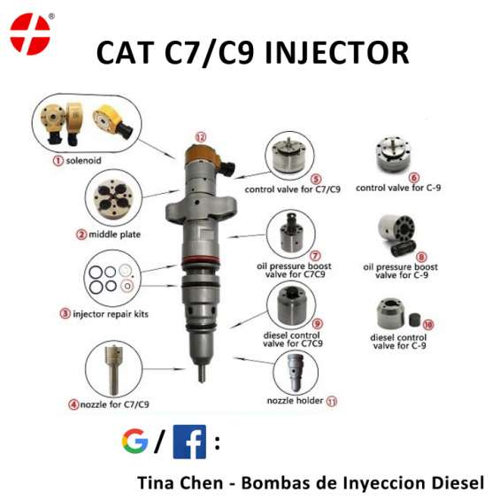 Inyectores caterpillar c7 2638218 3879427 c9 cat
