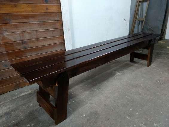 Banco de madera 2 mts rustic eco design fabrica