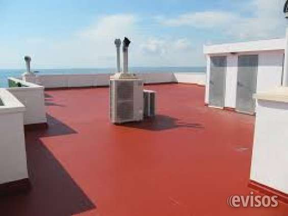 Impermeabilizaciones techos, losas y terrazas.