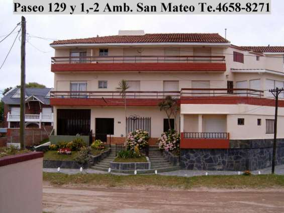 Villa gesell, 2 ambientes 4 plazas con vista al mar paseo 129 y 1