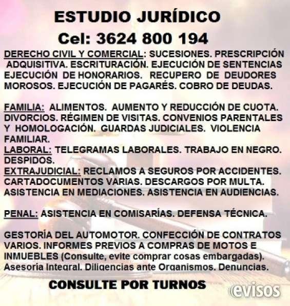 Estudio jurídico. asesorías y litigios