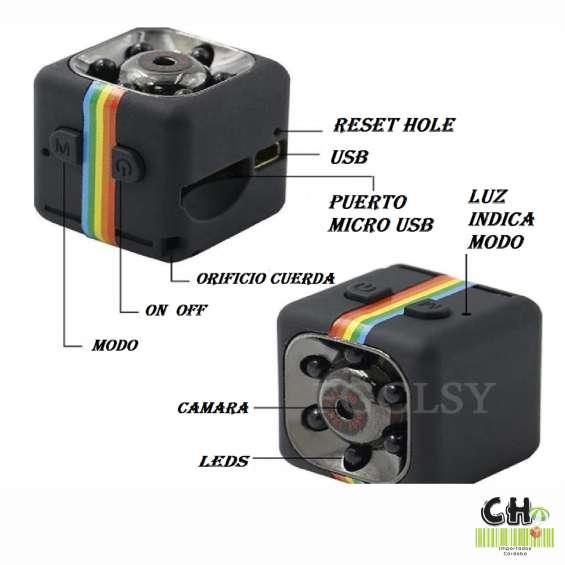 Mini video camara espia infraroja vision nocturna grabadora audio video