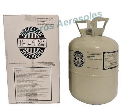 Gas h12 refrigerante garrafa 13.6kg h-12 frigoclean ur 12