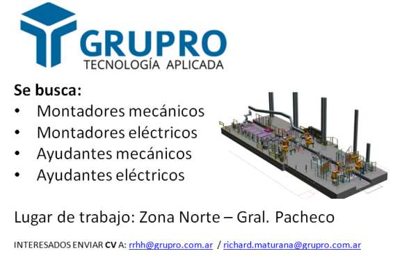 Montadores mecánicos y eléctricos