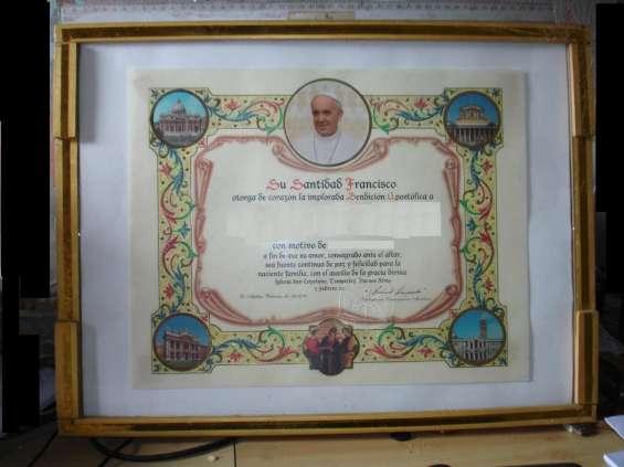 Bendicion papal enmarcado