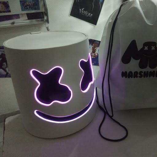 Mascara con luz marshmello dj fortnite