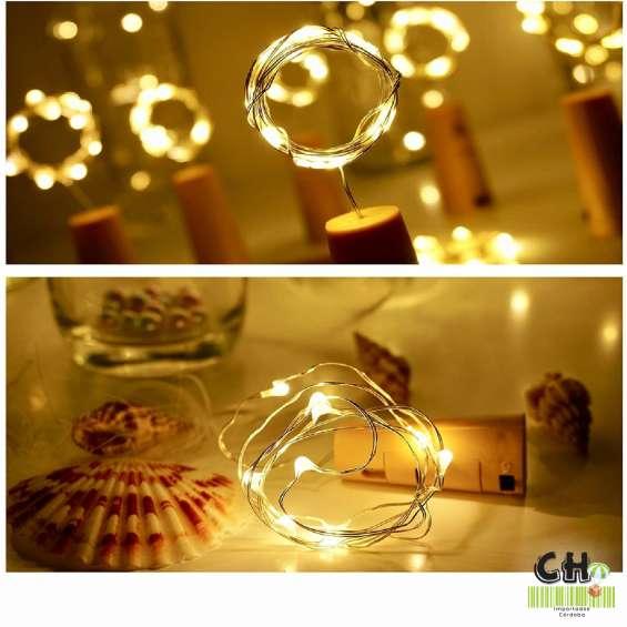 13 corchos de luces led para decorar