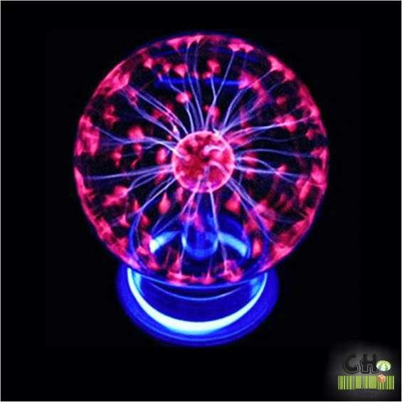 Bola luz lampara plasma velador electrica rayos