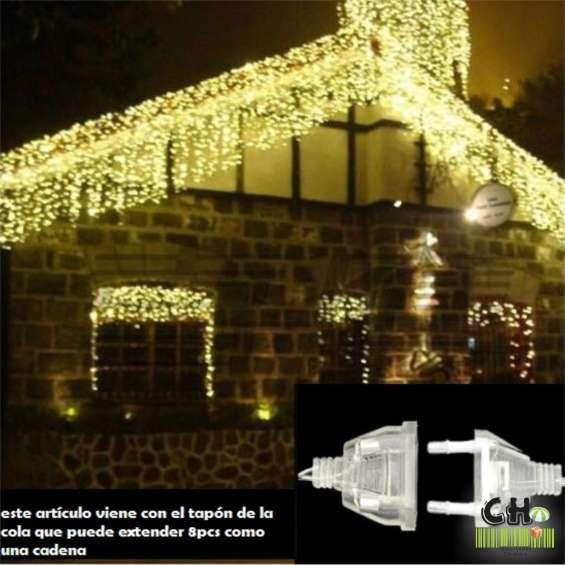 Cascada led 5m - decoración para navidad