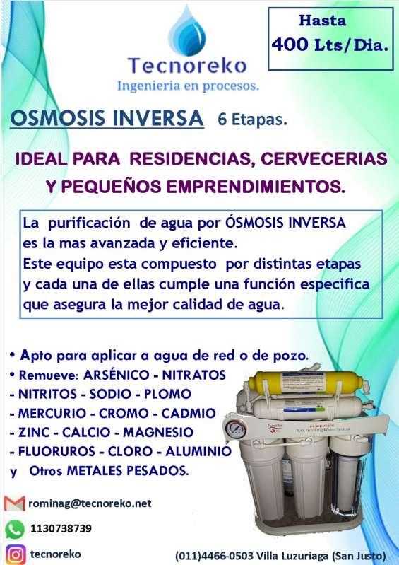 Osmosis inversa bajo mesada 400 lts/ dia
