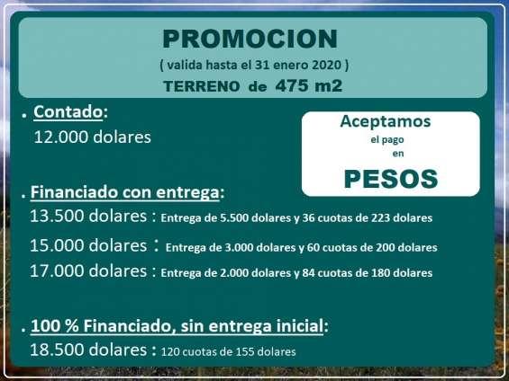 Terreno san luis argentina. escritura y servicios listos. acepto pago en pesos.