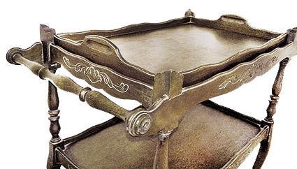 Mesa rodante madera antigua