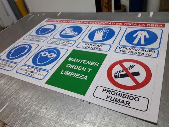 Letreros de seguridad industrial en glew