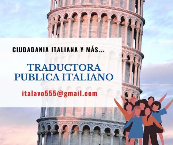 Ciudadanía italiana traductor público italiano partidas certificados sentencias