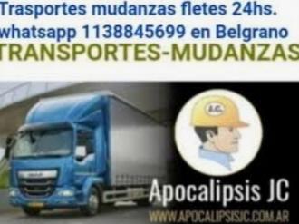 Transportes mudanzas fletes 24 hs. 1138845699