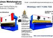 Plegadora y guillotina hidraulica