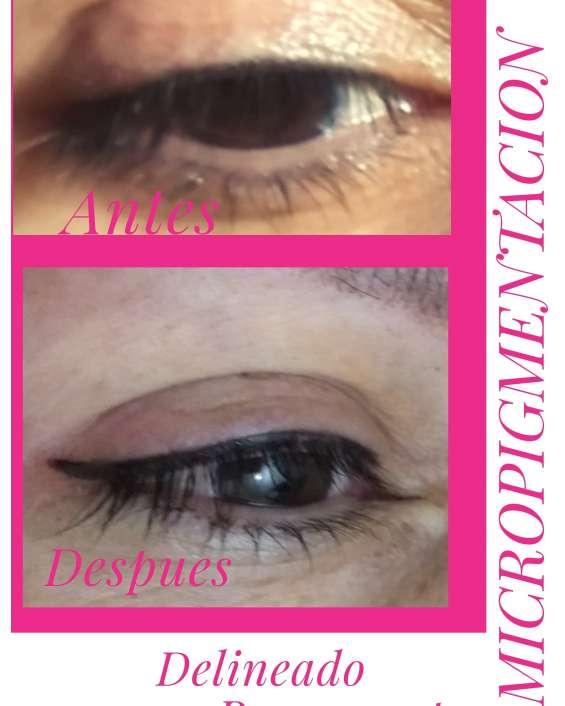 Delineado permanente de ojos delineado permanente de labios y relleno microblading de ceja